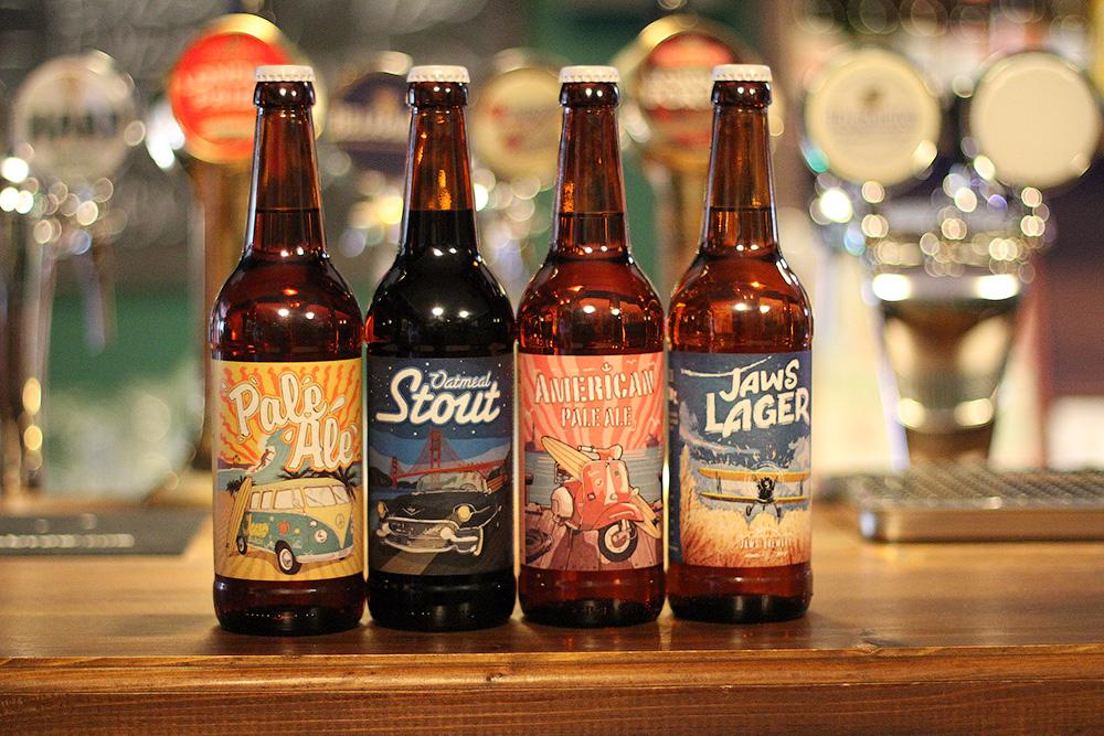 Основная линейка пива Jaws Brewery. Фото: Alex Pub
