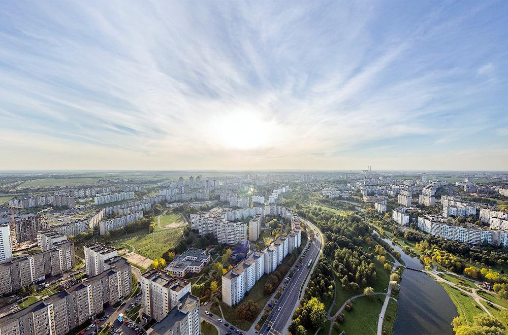 Фото с панорамы Малиновки, сделанной  3df.by