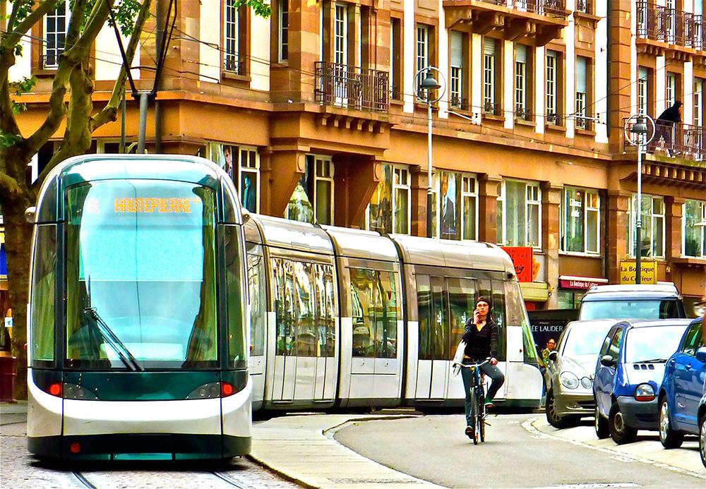 Трамвай в Страсбурге</a.