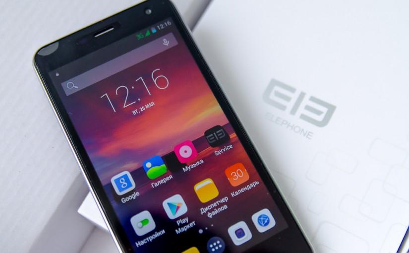 Обзор смартфона Elephone P5000