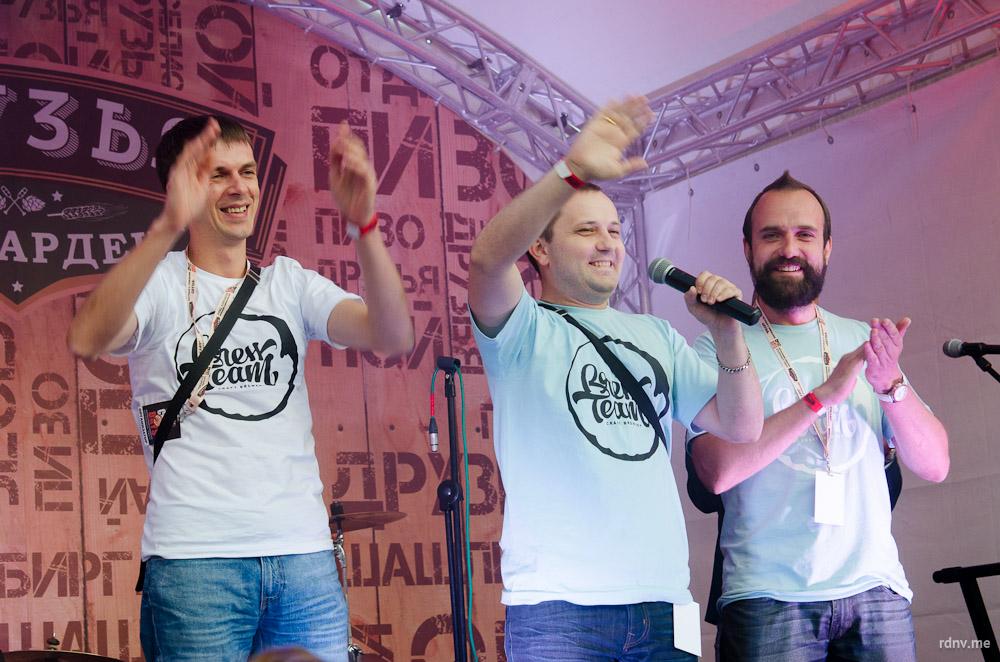 Первая белорусская контрактная пивоваря Brew Team в лице Дмитрия Вератинского, Алексея Садовского и Алексея Фадеенко