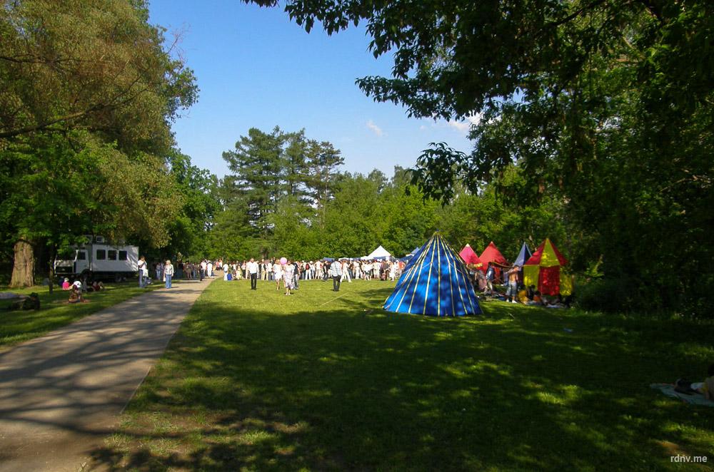 Раньше долина Свислочи в Лошицком парке становилась площадкой для рыцарских турниров