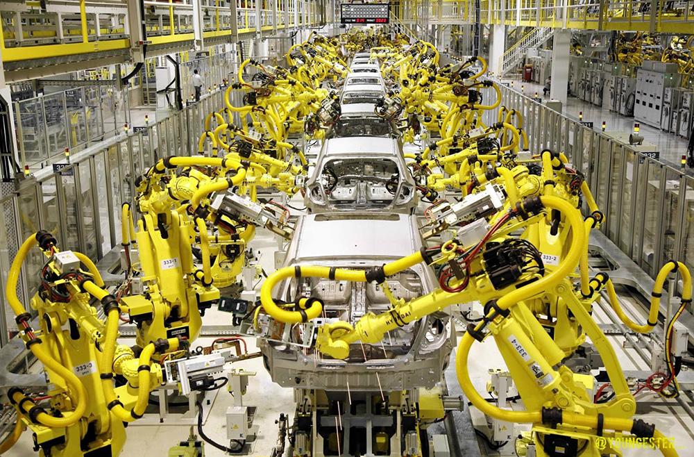 Современные заводы с роботами