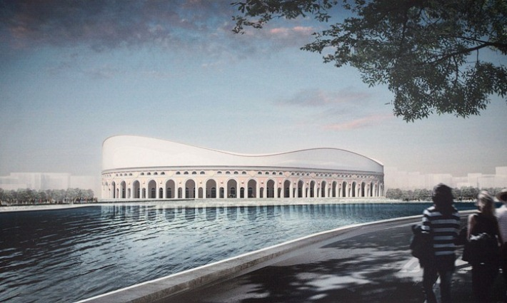 Проект реконструкции стадиона «Динамо»  в Минске, разработанный немецкой компанией GMP