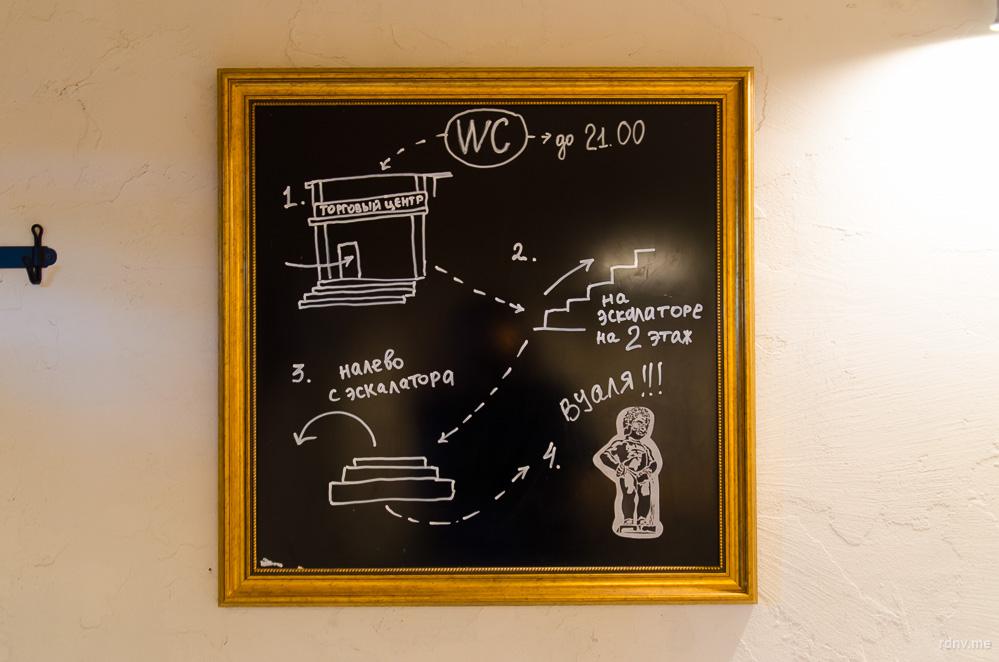 Карта дороги к туалету :)