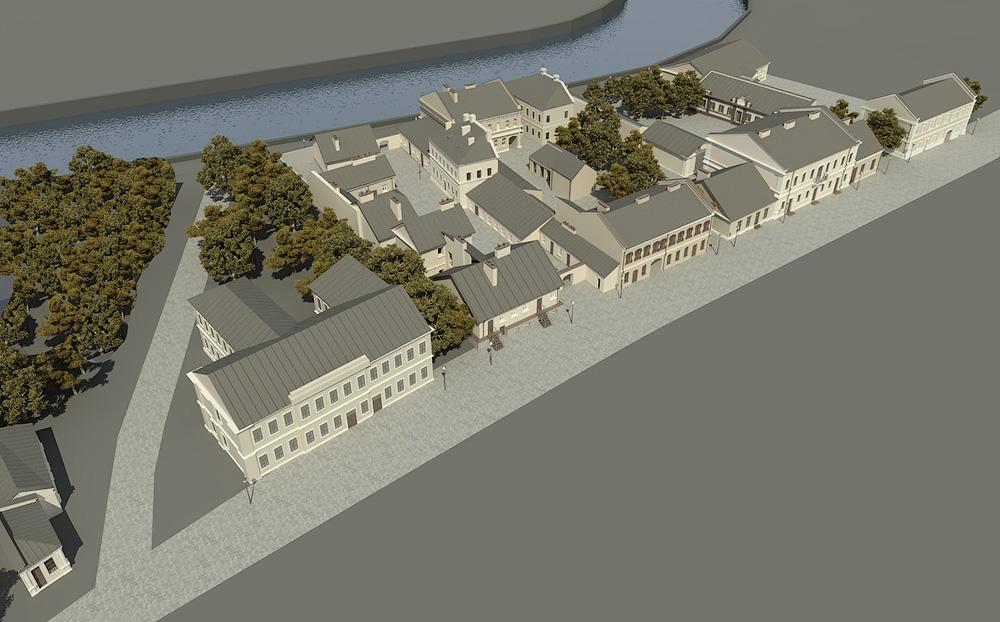 План реконструкции улицы Зыбицкой (Торговой), разработанный Товариществом охраны памятников
