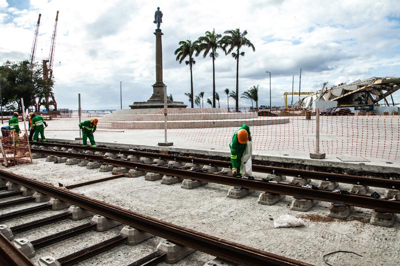 Строительство трамвайной линии в Рио. Фото: theworldfolio.com